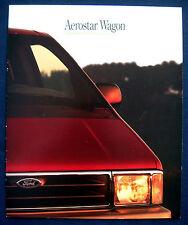 Prospekt brochure 1992 Ford Aerostar Wagon (USA)