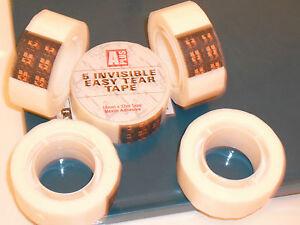 100% De Qualité 110 M Invisible Tape, 3 Rouleau De 18 Mm X 22 M Invisible Tape, Facile Tear Tape. Nouveau-afficher Le Titre D'origine