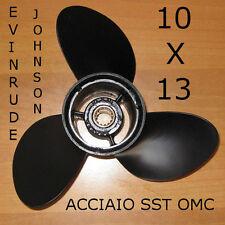 ELICA FUORIBORDO ORIGINALE ACCIAIO SST 10x13 OMC EVINRUDE JOHNSON 25 HP
