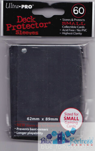60 ULTRA PRO YUGIOH BLACK DECK PROTECTORS CARD SLEEVES