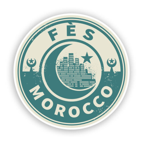 2 X Pegatinas De Vinilo Marruecos FES viaje equipaje #7448