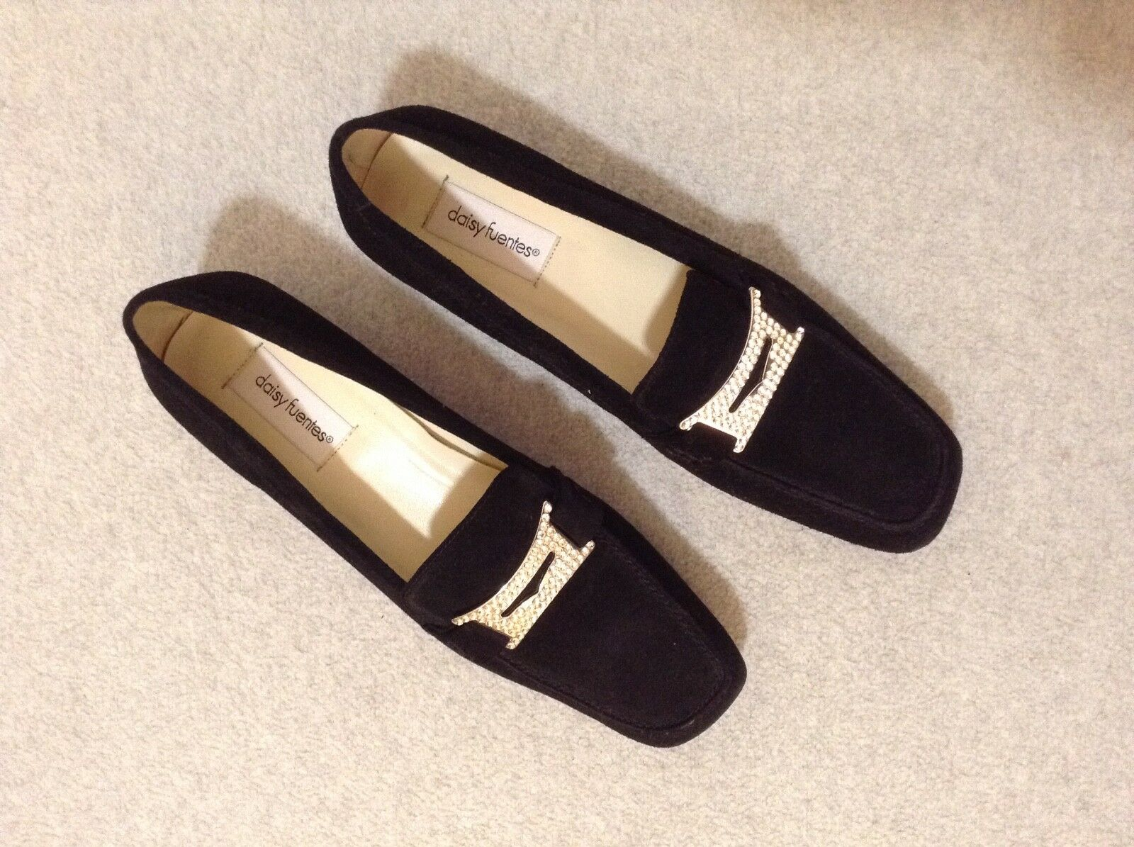 Daisy Fuentes Women's Loafer 9M Leather Upper Black Loafer Women's w/Sparkly Decor NEW! (SBx-5) 6ea5ba