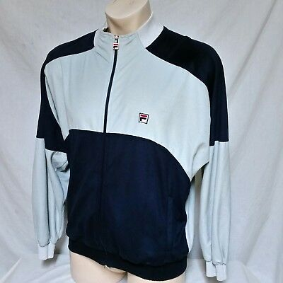VTG Fila Velour Track Jacket Suit 80s Coat Running 90s Hip Hop Bjorn Borg Medium | eBay