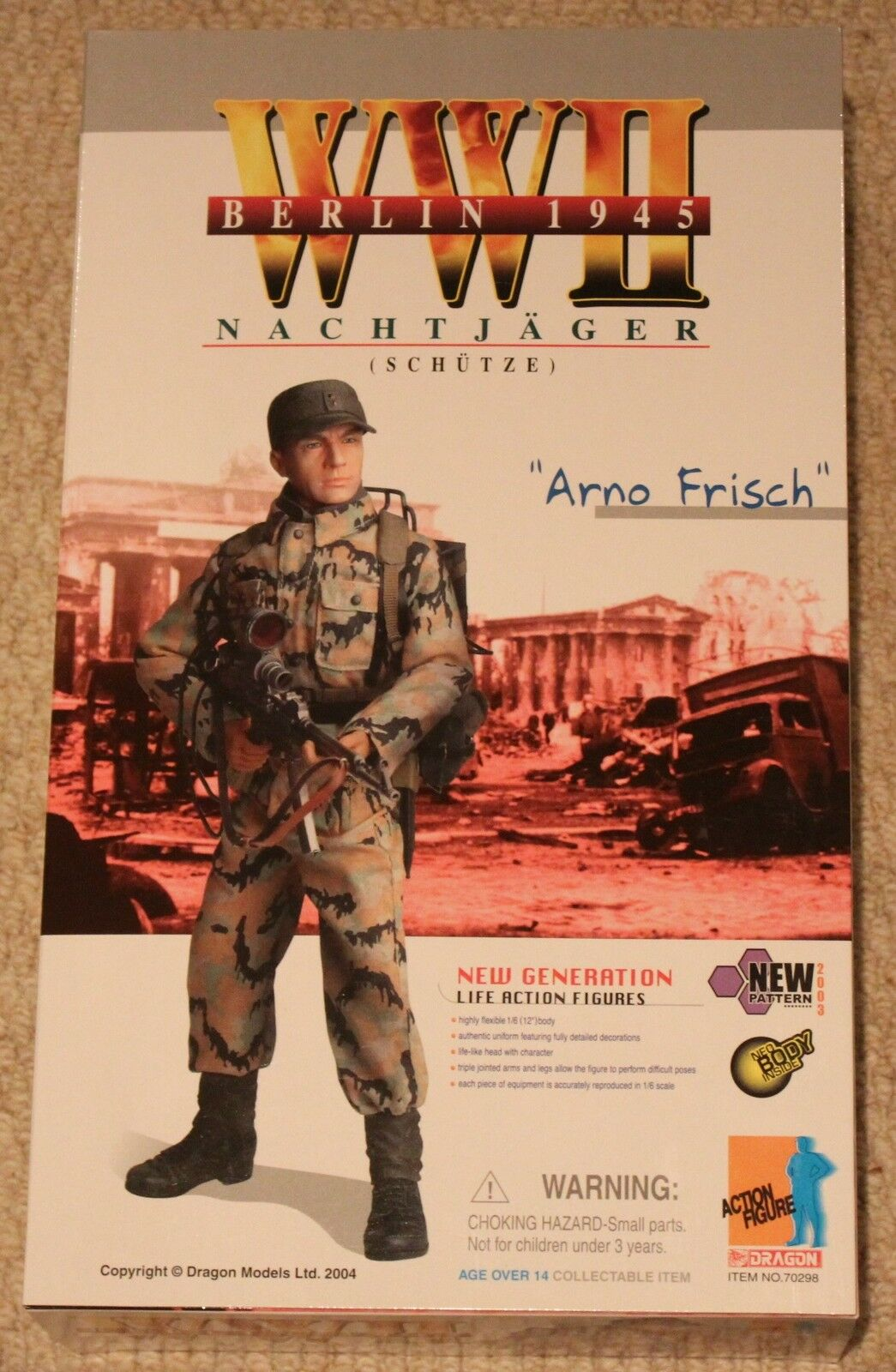 Dragon action figure 1/6 ww11 german arno 70298 12'' boxed did cyber hot toy