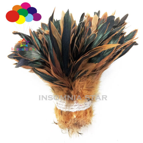 650 Pcs Carnival Rooster Saddle Hackle Feather Strung 5-6inch// 12.5-15cm Ribbons