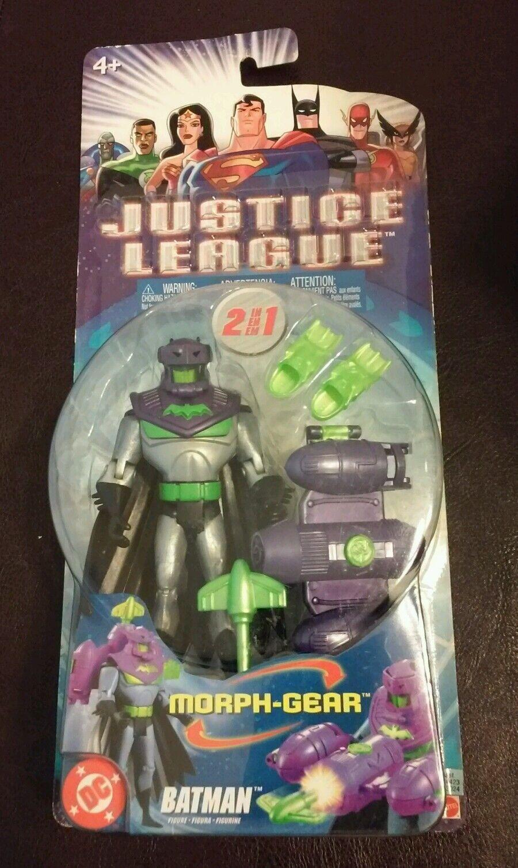 New 2004 Justice League League League Batman Figure 4 1 2  Morph-Gear Mattel DC 5310dd