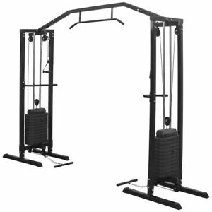 vidaXL-Fitness-Cable-Crossover-Machine-315cm-Black-Multipe-Power-Tower-Fitness