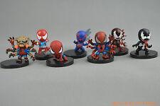 Lot of 7 Marvel Venom Carnage Scarlet Spiderman 2099 Villain Statue Figure Set