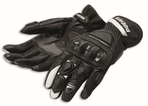 Ducati spidi sport c2 racing cuir Gants Gants Noir Neuf!!!