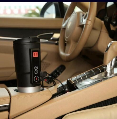 12V Heated Travel Car Auto Stainless Steel Thermos Coffee Tea Cup Mug Bottle New