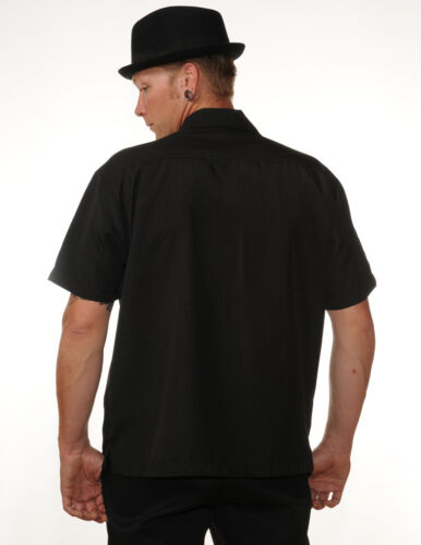 Rockabilly Black de ann Bowling Panneau Shirt style Tz0qH