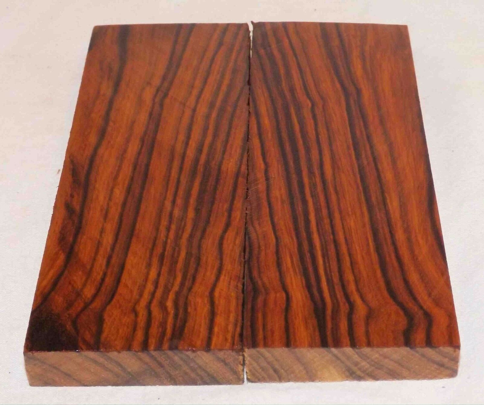 Desert Ironwood Bowie size bookmatched figured knife scales 5.2 x 2.0 x .37