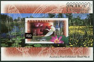 Australia-BLOCCO-n-24-i-post-FRESCHI-MNH-MICHEL-45-00-fauna-e-flora-selvatiche-1997
