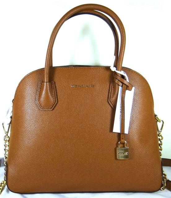 ab7c93295f64 Michael Michael Kors Mercer Large Dome Luggage Pebbled Leather Satchel Bag