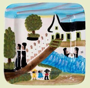 Details About New Oprahs Favorite Things Clementine Hunter River Baptism 2012 Platter Folk Art