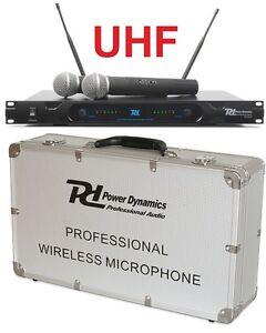 MICROFONI-WIRELESS-senza-filo-PROFESSIONALI-UHF-per-pianobar-live-karaoke-WOW