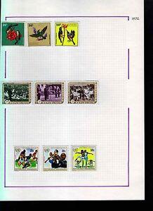 Rwanda-1972-Album-Page-Of-Stamps-S964