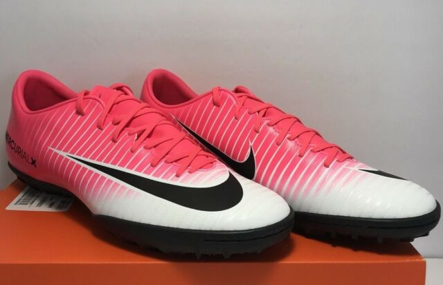 purchase cheap 95606 57a03 Nike Mens Size 10.5 Mercurial Victory VI FG Pink White Soccer Cleats