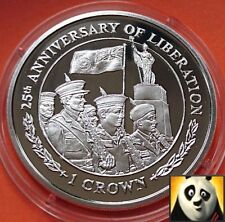 2007 FALKLAND ISLANDS 1 One Crown Liberation Armed Forces Silver Proof Coin