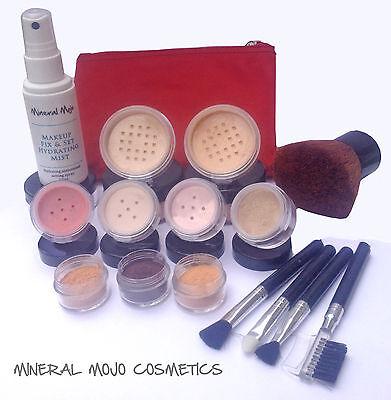 Bare Skin Mineral Mojo XL 17 Piece Mineral Foundation Makeup Set MEDIUM Kit
