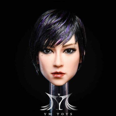 1//6 YMTOYS YMT029B Female Black Hair Head Sculpt Model New Suntan F 12/'/' Body