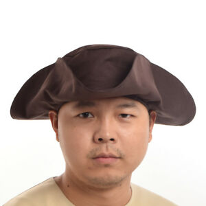 Image is loading Vintage-Revolutionary-War-Theater-Reenactment-Tricorne- Tricorn-Hat- b7ab3cff687