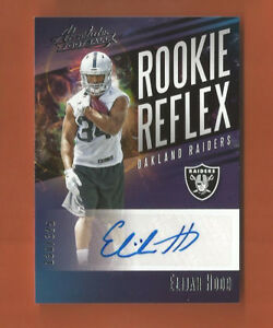 reputable site f95ae 6993b Details about 2017 PANINI ABSOLUTE ROOKIE REFLEX RC ELIJAH HOOD AUTO #d  130/325 RAIDERS