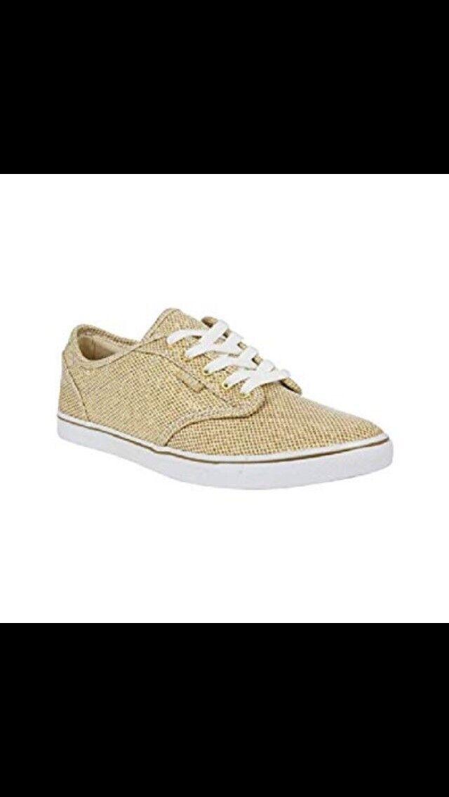 femmes  Atwood Low  (Gold/ blanc  Low Glitter) Vans UK: 5, BNIB 5fdc83