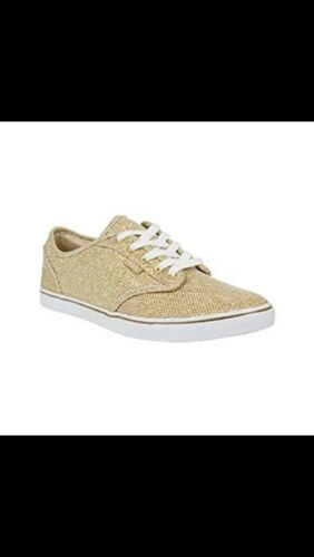 Bnib Atwood bianco Low Glitter Vans oro Womens Uk 5 zw8fq474
