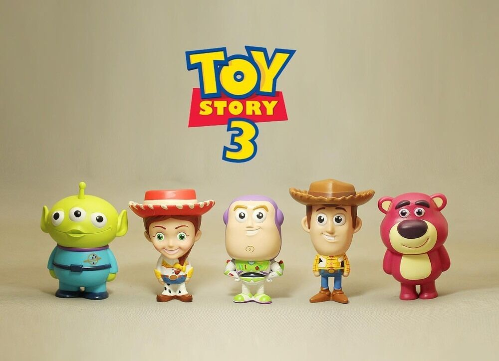 TOY STORY 2 3 SET FIGURE 8 CM WOODIE BUDDIES 7 ELEVEN CARTOON BUZZ LIGHTYEAR  1