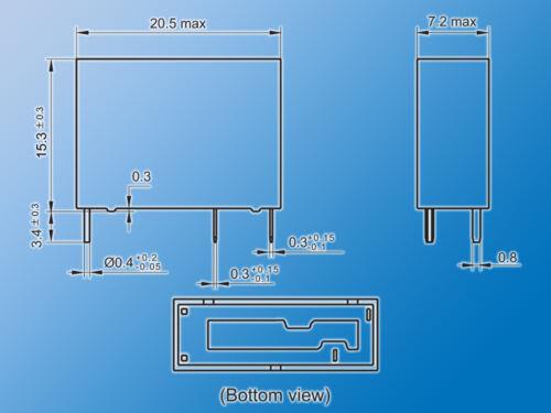 10x Relais HF46F-G//024-H1T24VDC7A//250VACbesonders kompakte Abmessungen