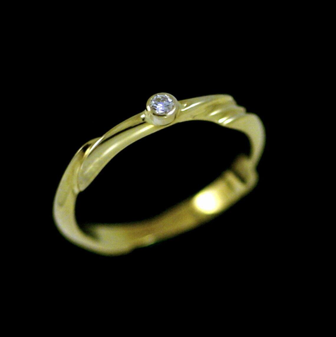 f0e365375 Jensen. 18k gold Ring with Diamond 0.04ct Georg Solitaire nvxujg2419 ...