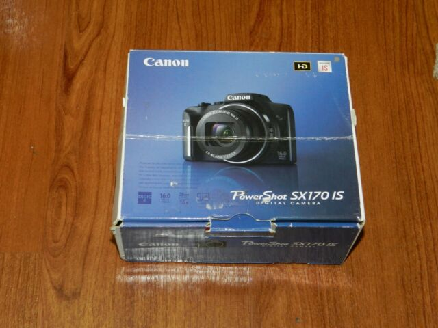 NEW in Open Box - Canon PowerShot SX170 IS 16.0 MP Camera - BLACK - 013803229042