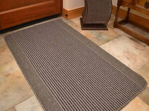 Small Large Silver Grey Washable Non Slip Long Hall