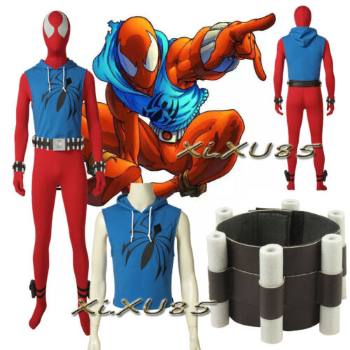 Scarlet Spider Man Spiderman Zentai Cosplay Costume Customize Halloween Clothes
