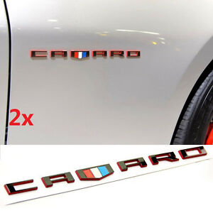 Details about 2x OEM CAMARO Letter Emblem 3D Badge GM Chevy OEM Black Red Line Series WU