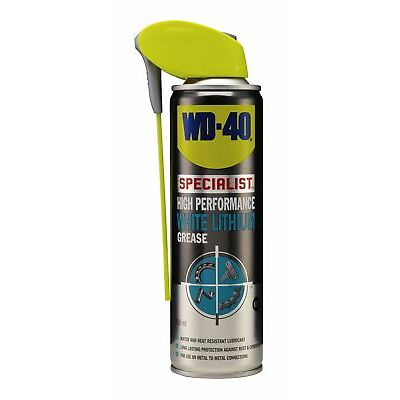 WD-40 44408 Specialist High Performance White Lithuim Grease 250ml Smart Straw