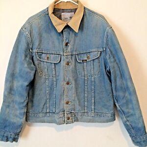 0532fb95e41 Vintage Lee Storm Rider Light Washed Denim Jacket Size 44 Made In ...