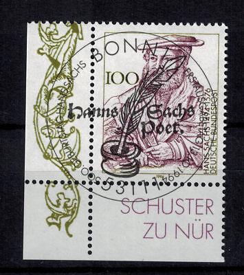 Bundesrepublik Deutschland 1763 Gestempelt Hans Sachs Eckrand Unten Links Dinge Bequem Machen FüR Kunden