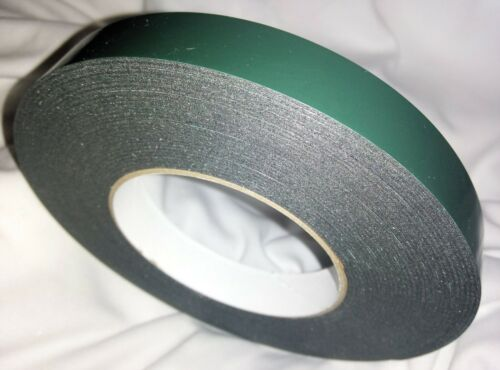 19mm x 10m Black Strong Double Sided Self Adhesive Foam Car Trim Body Tape T417