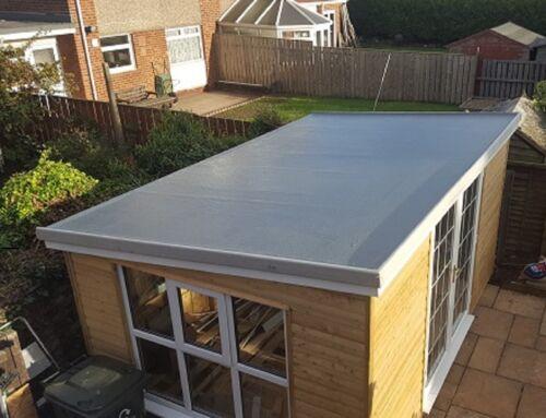 600grm Fibreglass  Roofing kit No Tools Provided Dark Grey Foot Traffic