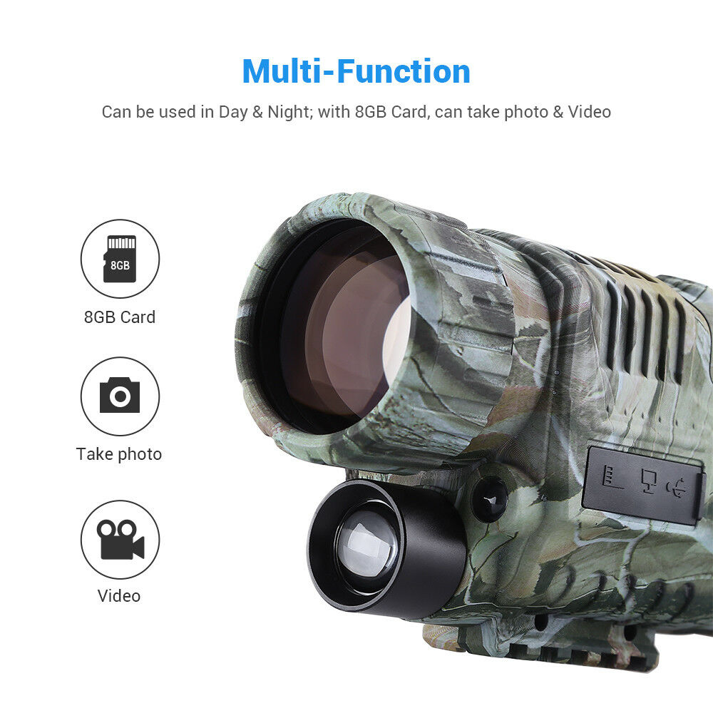 5X40mm Infrared Night Vision Monocular Binoculars Telescope for Hunting Outdoor