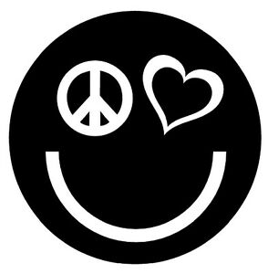 PEACE-LOVE-HAPPINESS-Vinyl-Decal-Sticker-Car-Window-Wall-Laptop-Smiley-Face-Logo