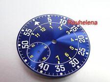 HR SUPER LUME B-Uhr Pilot Blue Sunray Watch Dial for ETA Unitas 6497 Movement