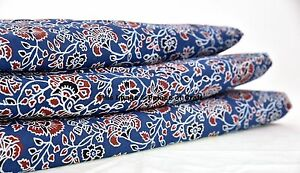 By-5-Yard-Ajrakh-Block-Print-Ethnic-Quilting-Dress-Making-Cotton-Fabric-Handmade