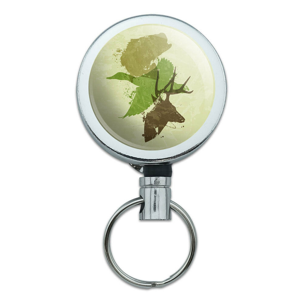 Sea Turtle Flying Retractable Reel Chrome Badge ID Card Holder Clip