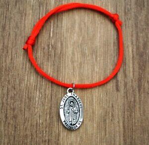 Pulsera-San-Judas-Tadeo-Patron-De-Lo-Imposible-Hombre-Mujer-Suerte-Amuleto-Rojo