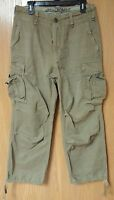 Abercrombie & Fitch Mens Classic Light Olive Recon Cargo Pants 30 R