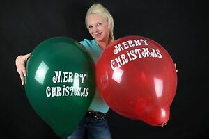 3-x-grosse-TUFTEX-17-034-Luftballons-MERRY-CHRISTMAS-GREEN-amp-RED-TUF-TEX