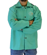 Strongarm Welding Jacket Green Arc Rated Work Jacket With 9oz Fr Cotton Satin An